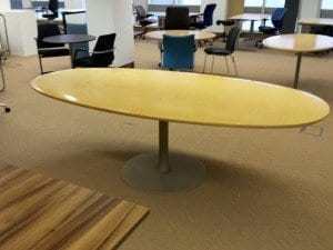2400 x 1200mm Oval Meeting Room Table