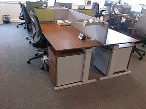 Techo Walnut Workstation Desks